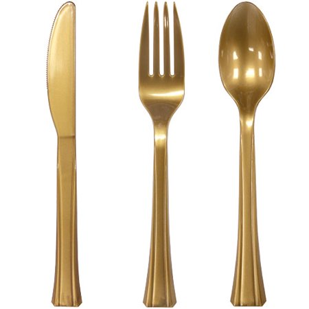 Lillian Cutlery, Combo Pack, Gold, 24 Ct