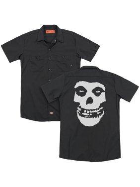 Misfits - Fiend Skull (Back Print) - Work Shirt - Small