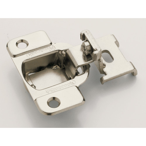 1/4 in (6 mm) Overlay Matrix Concealed Nickel Hinge - 2 Pack