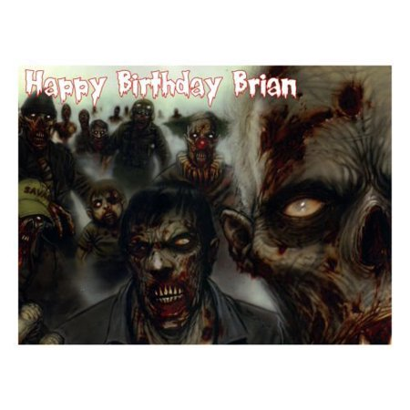 Zombie Party Food (Zombies edible party cake topper decoration cake frosting)