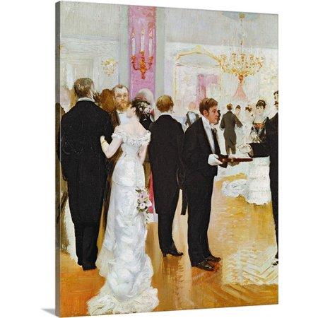 Canvas Jean (Great BIG Canvas | Jean (1849-1935) Beraud Premium Thick-Wrap Canvas entitled The Wedding Reception, c.1900 )