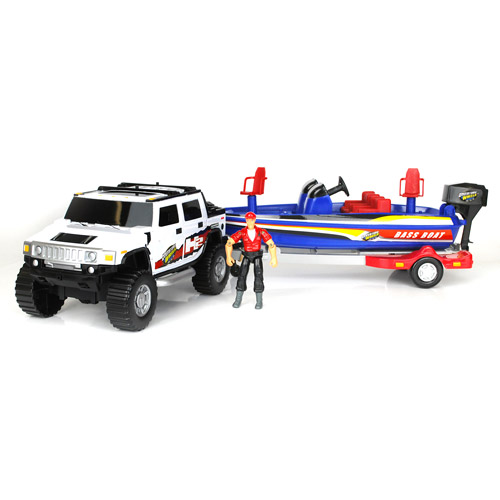 Adventure Wheels Deluxe Truck and Boat Set