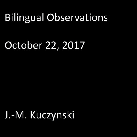 Bilingual Observations: October 22, 2017 - - Halloween October 31 2017