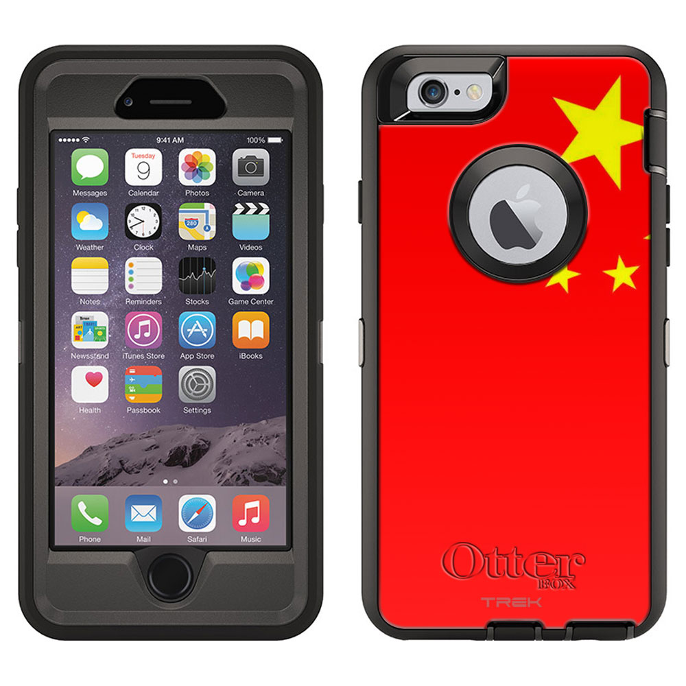 OtterBox Defender Case for Apple iPhone 6 Chinese Flag by Trek Media Group