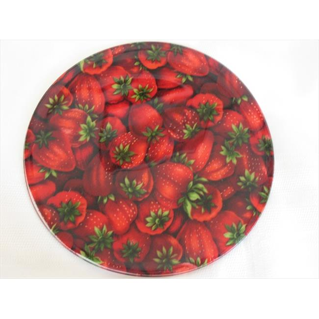 Andreas JO-926 Strawberries Round Silicone Mat Jar Opener - Pack of 3 trivets