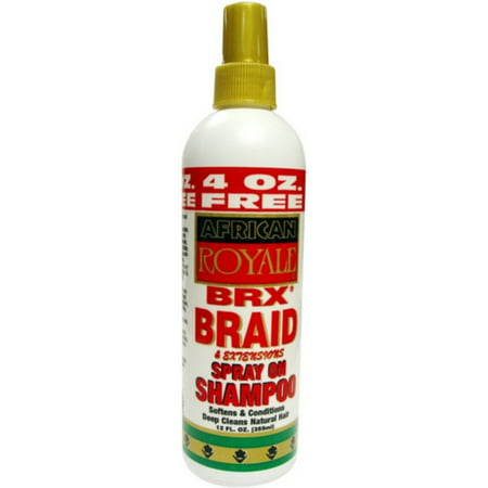 African Royale BRX Braid Spray on Shampoo, 12 oz (Pack of (Types Of Braids For African American Hair)