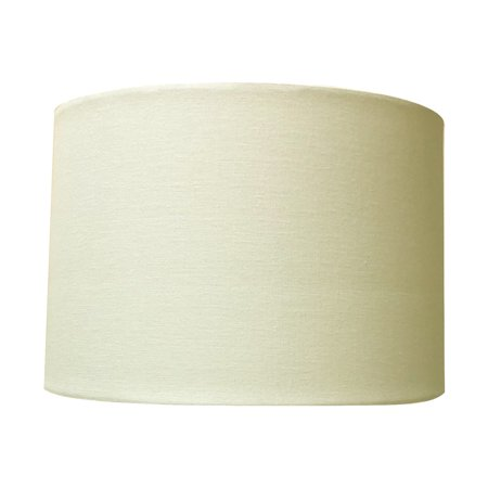 Royal Designs Uno Drop Shallow Drum Hard Back Linen Eggshell Table Lampshade, 13 x 14 x 9