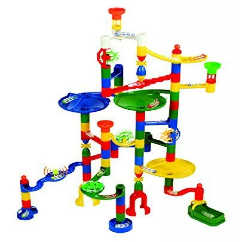 Edushape Marbulous Marble Run 82 Pieces plus Bonus of 50 Marbles Total of 132 Pieces by