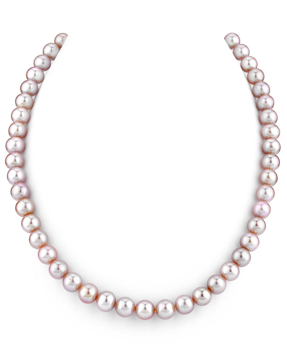 "THE PEARL SOURCE 14K Gold 7-8mm AAA Quality Pink Freshwater Cultured Pearl Necklace for Women in 16"" Choker Length by The Pearl Source"