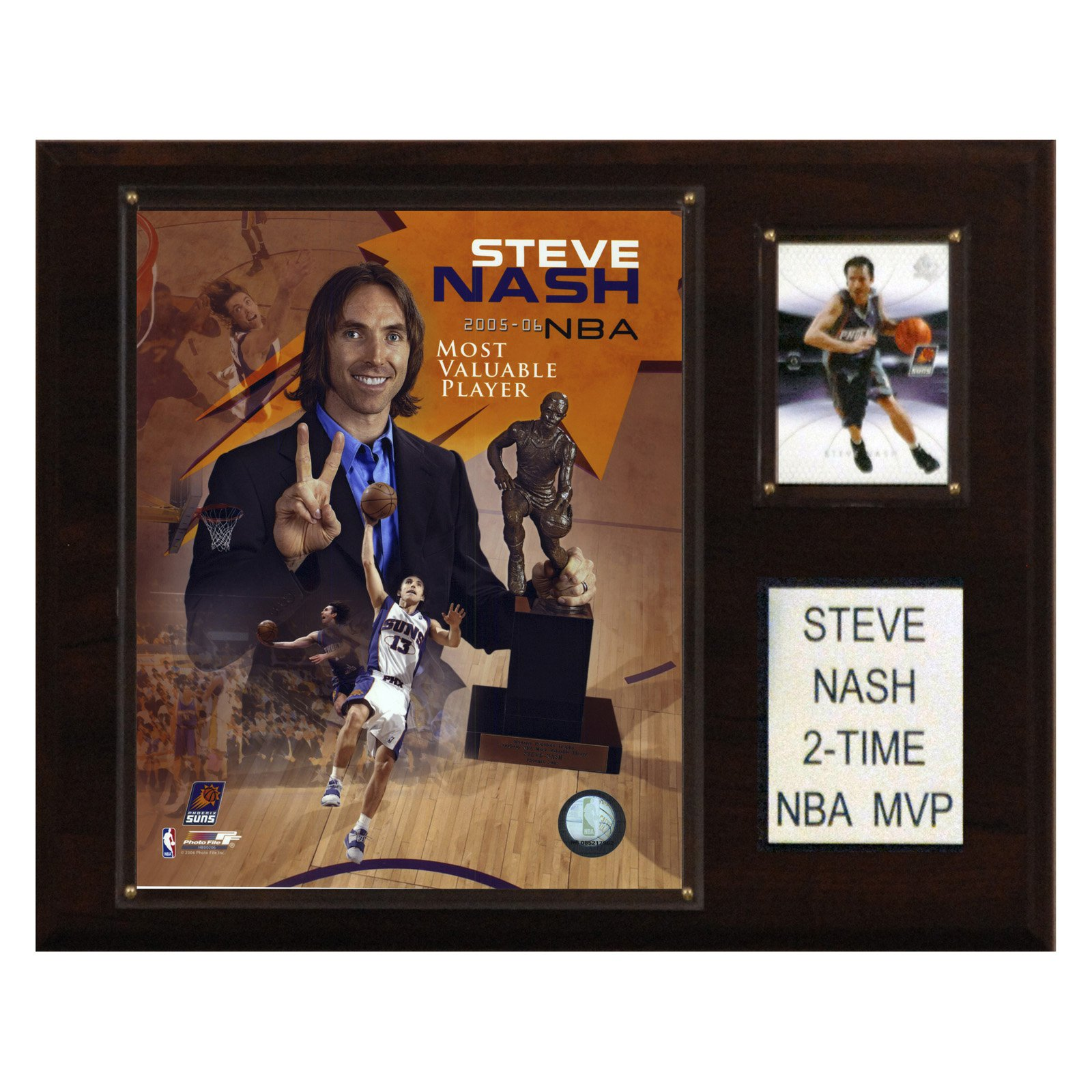 C&I Collectables NBA 12x15 Steve Nash 2 Time NBA MVP Phoenix Suns Player Plaque