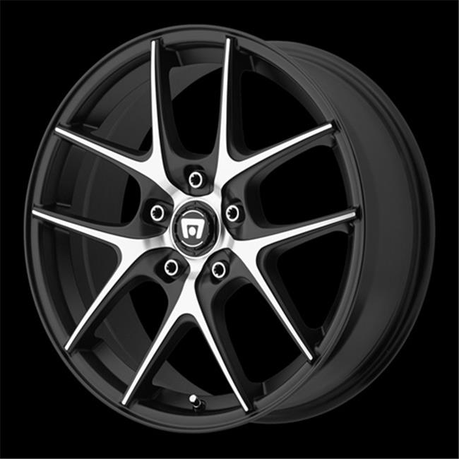 Wheel Pros 2888051748 Satin Black With Machined Face And Register Striped Wheels - 5 x 100