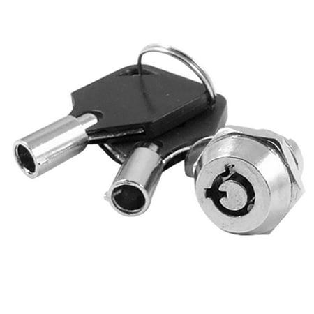 Unique Bargains Cabinet Zinc Alloy Quarter Turn Key Switch Tubular Cam (Use Tubular Lock Pick)