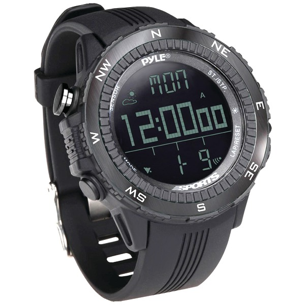 PYLE PRO DIGI MULTI SPRT WATCH BLK