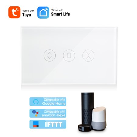 Tuya WiFi Curtain Switch for Electric Motorized Curtain Blind Roller  Shutter Garage Door Motor /AU Smart Touch Switch Compatible with , Home  Voice