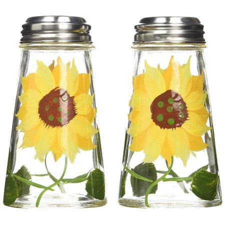 Grant Howard Sunflower Salt and Pepper Shaker Set (Painted Open Salt)