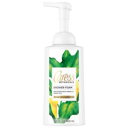 (2 pack) Caress Botanicals Mediterranean Neroli and Green Tea Shower Foam, 13.5 oz