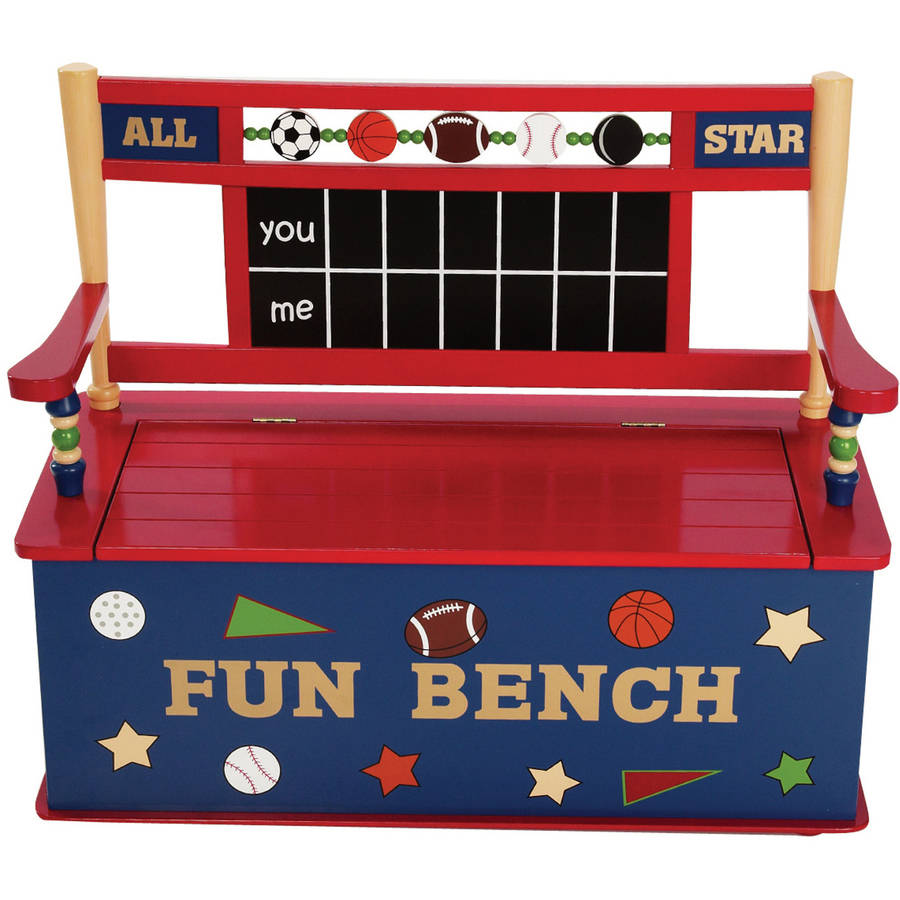 Walmart Toy Chests For Boys : Levels of discovery firefighter bench seat with storage