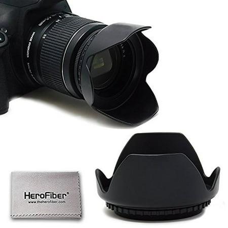 52mm Hard Lens Hood For Nikon Cameras including Nikon D850, D750, D500, D810A, D610, D800, D600, D7500, D7200, D7100, D5600, D5500, D5300, D3400, D3300, D3200