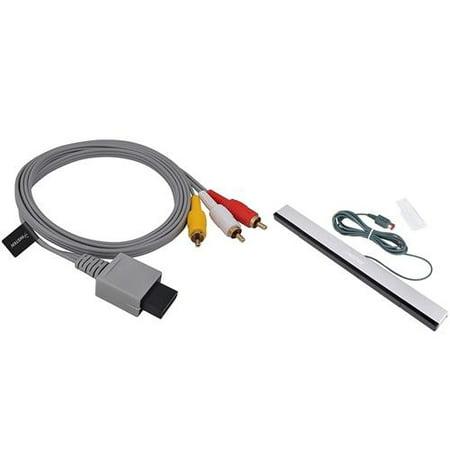 - Insten 6' AV Composite Cable + Wired Sensor Bar For Nintendo Wii / Wii U