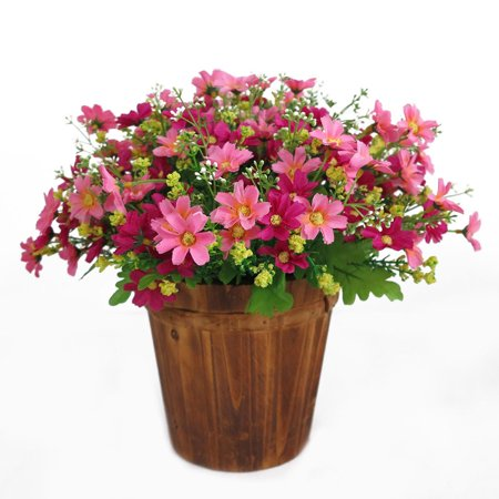 28 Heads 1 Bouquet Simulate Artificial Daisy Silk Flowers for Wedding Home Decoration pink - Daisy Decorations