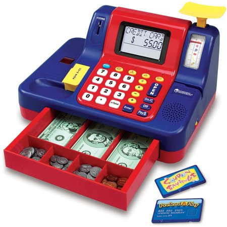 Learning Resources Pretend and Play Teaching Cash Register (Easy Cash Register)