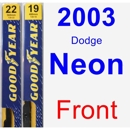 2003 Dodge Neon Wiper Blade Set/Kit (Front) (2 Blades) - Premium