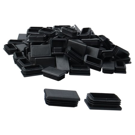 100pcs 50 x 30mm Plastic Rectangle Ribbed Tube Insert End Cover Pad Furniture Chair Table Desk Feet Floor Protector - image 7 of 7