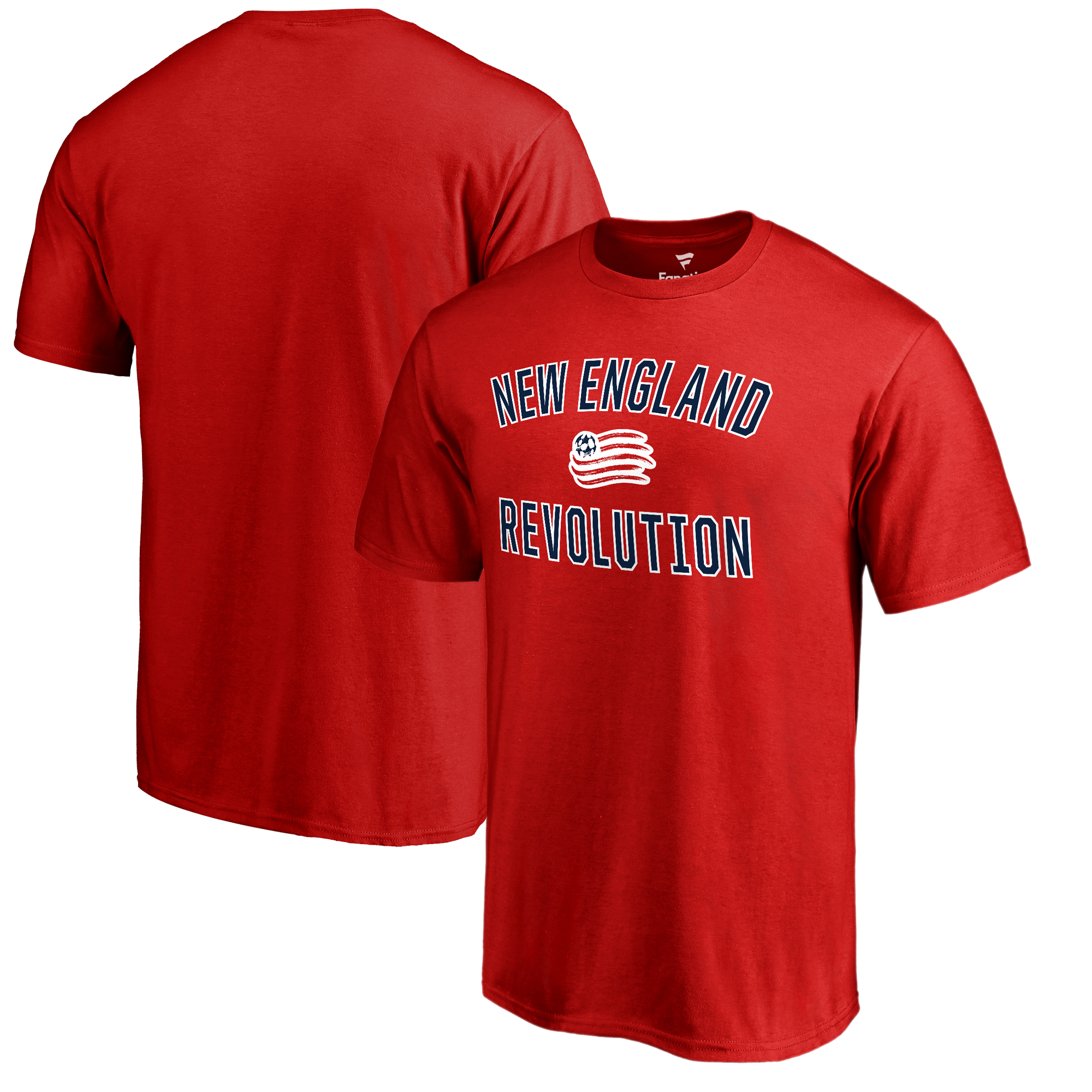 New England Revolution Fanatics Branded Victory Arch T-Shirt - Red