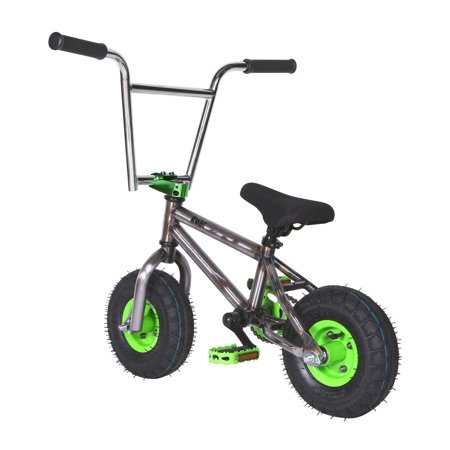 "Kobe ""Rusty Rat Rod"" Mini BMX - Off-Road to Skate Park, Freestyle, Trick, Stunt Bicycle 10"" Wheels for Adults and Kids - Green - image 7 de 12"