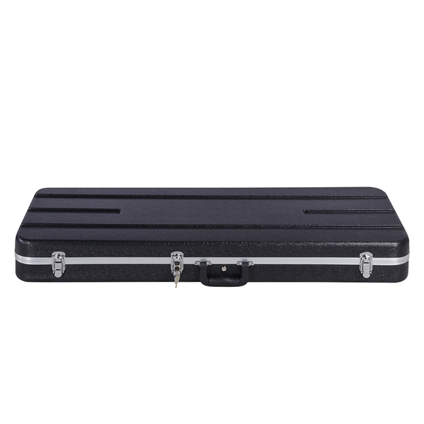 ABS Electric Guitar Case Molded Case for Telecaster, Stratocaster Style Hard-Shell Electric Guitar Case with Lockable Latch Black