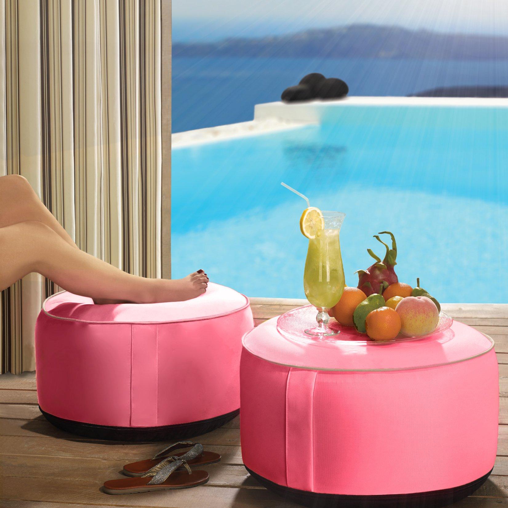 Outdoor Decor Splash N Dash 21 in.Inflatable Indoor / Outdoor Pouf