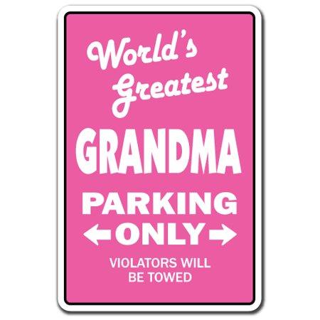 WORLD'S GREATEST GRANDMA Sign grandchildren grand kids grandmother   Indoor/Outdoor   14