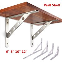 Hilitand Heavy Duty Shelf Brackets Stainless Steel L-Shaped Wall Shelf Holder Support Frame