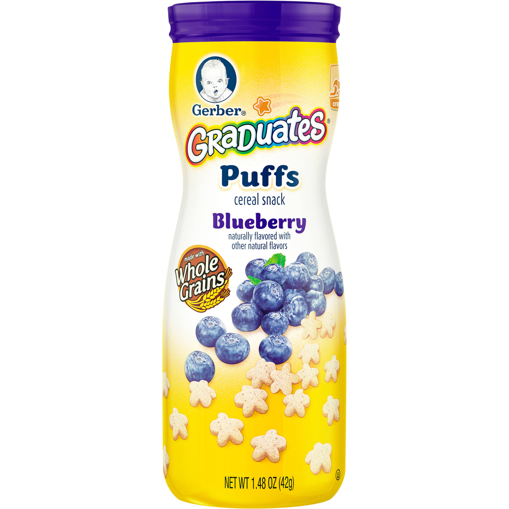 Gerber® Graduates® Puffs Blueberry Cereal Snack, 1.48 oz
