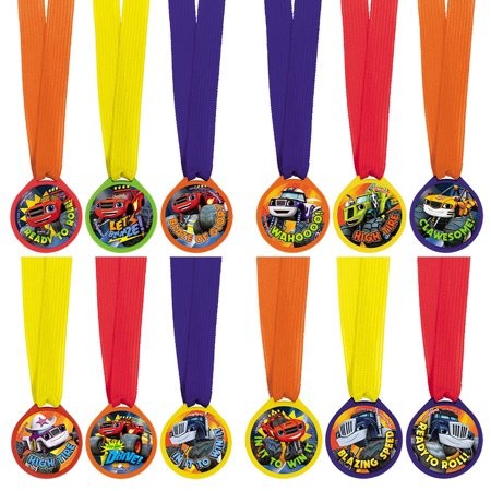 Blaze and the Monster Machines Award Medal Favors (12 Pack) - Party - Monster High Favors