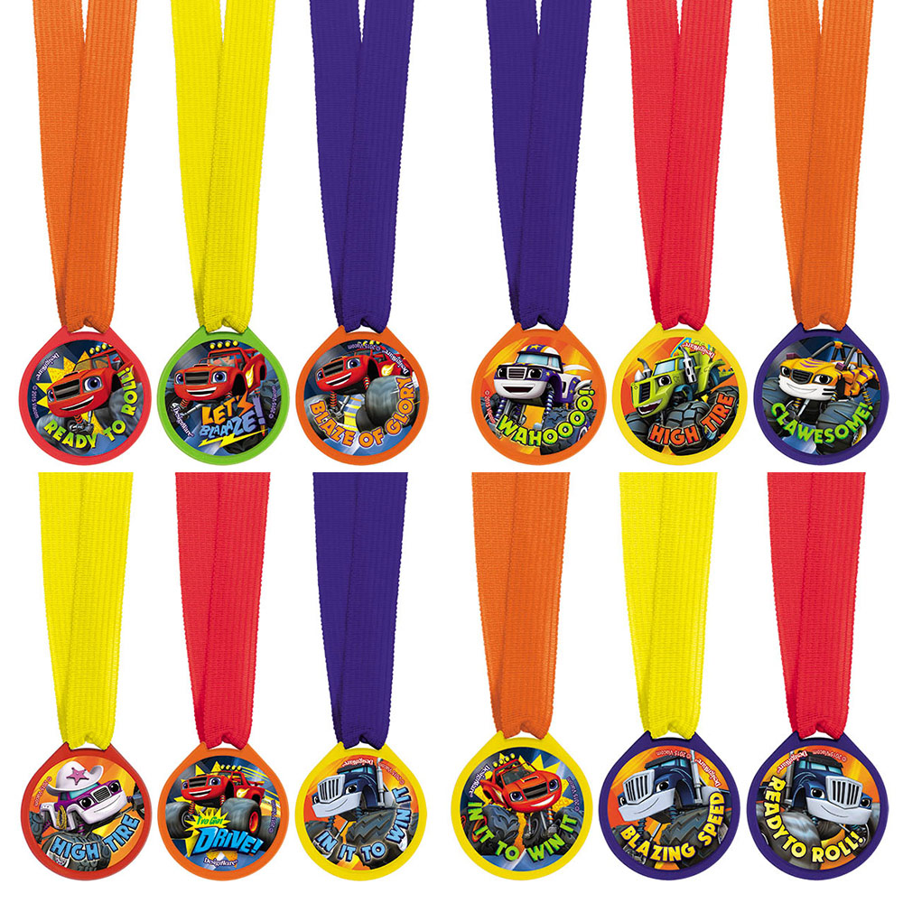 Blaze and the Monster Machines Award Medal Favors (12 Pack) - Party Supplies