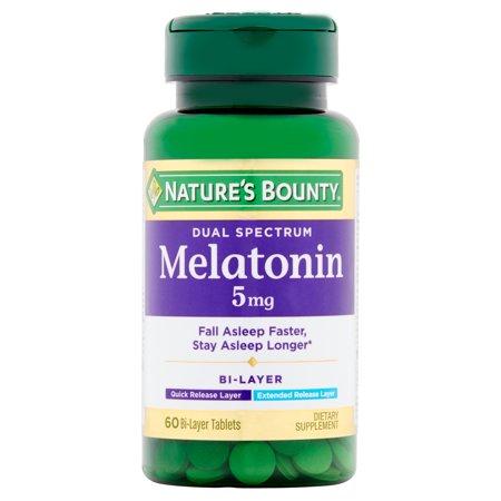 Nature's Bounty Dual Spectrum Melatonin Bi-Layer Tablets, 5mg, 60