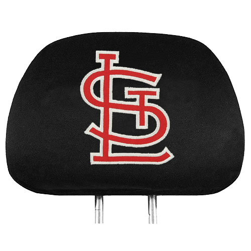Officially Licensed MLB Baseball Head Rest Covers - St Louis Cardinals
