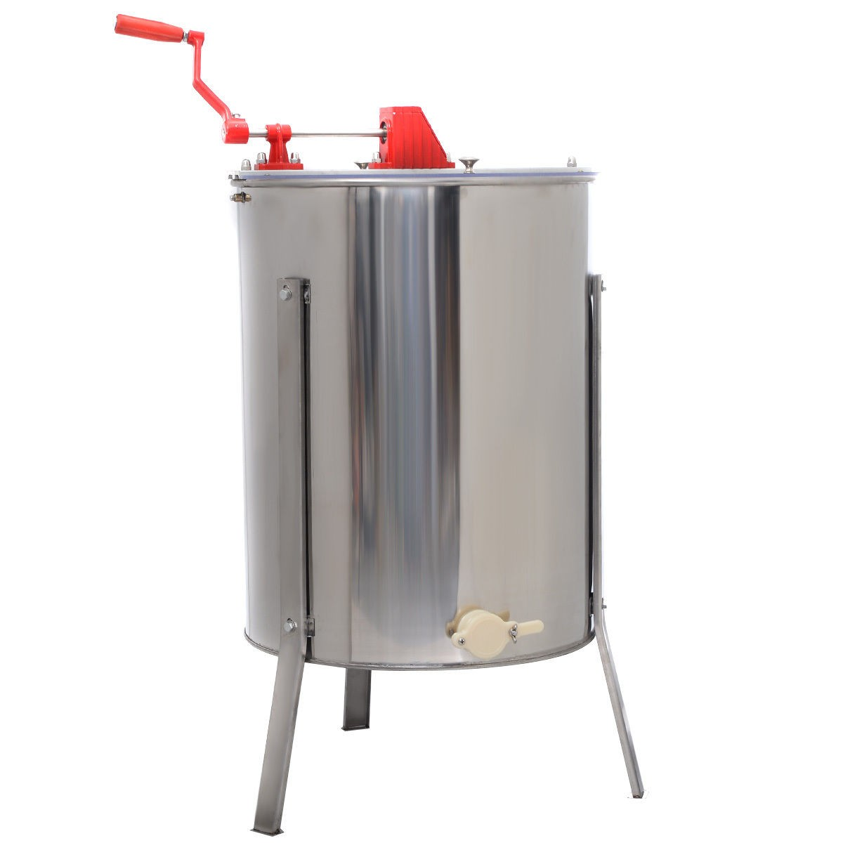 Stainless Steel Large 4/8 Frame Honey Extractor Manual Be...
