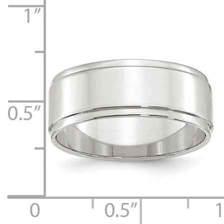 925 Sterling Silver 8mm Flat Step Edge Size 5 Wedding Ring Band Classic W/edge Down Fine Jewelry For Women Valentines Day Gifts For Her - image 2 of 6
