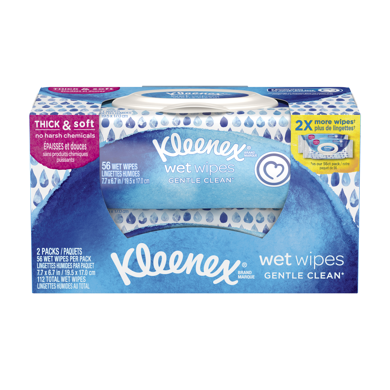 Kleenex Sensitive Wet Wipes Pack of 48 Sheets