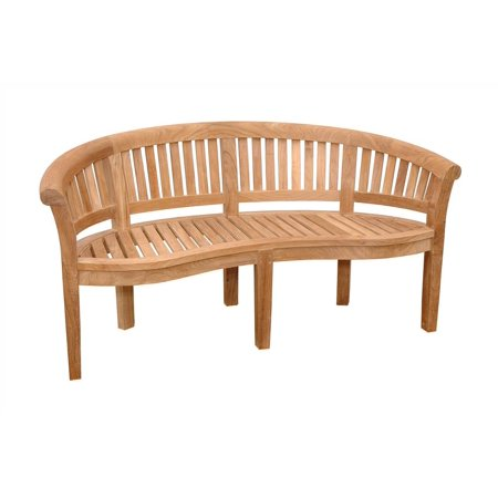 Curve 3-Seater Bench Extra Thick Wood - Unfinished Bench Extra Thick Wood