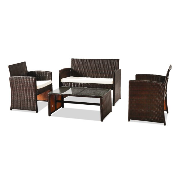 Promotion Clearance Outdoor 4 Pieces, Indoor Wicker Furniture Clearance