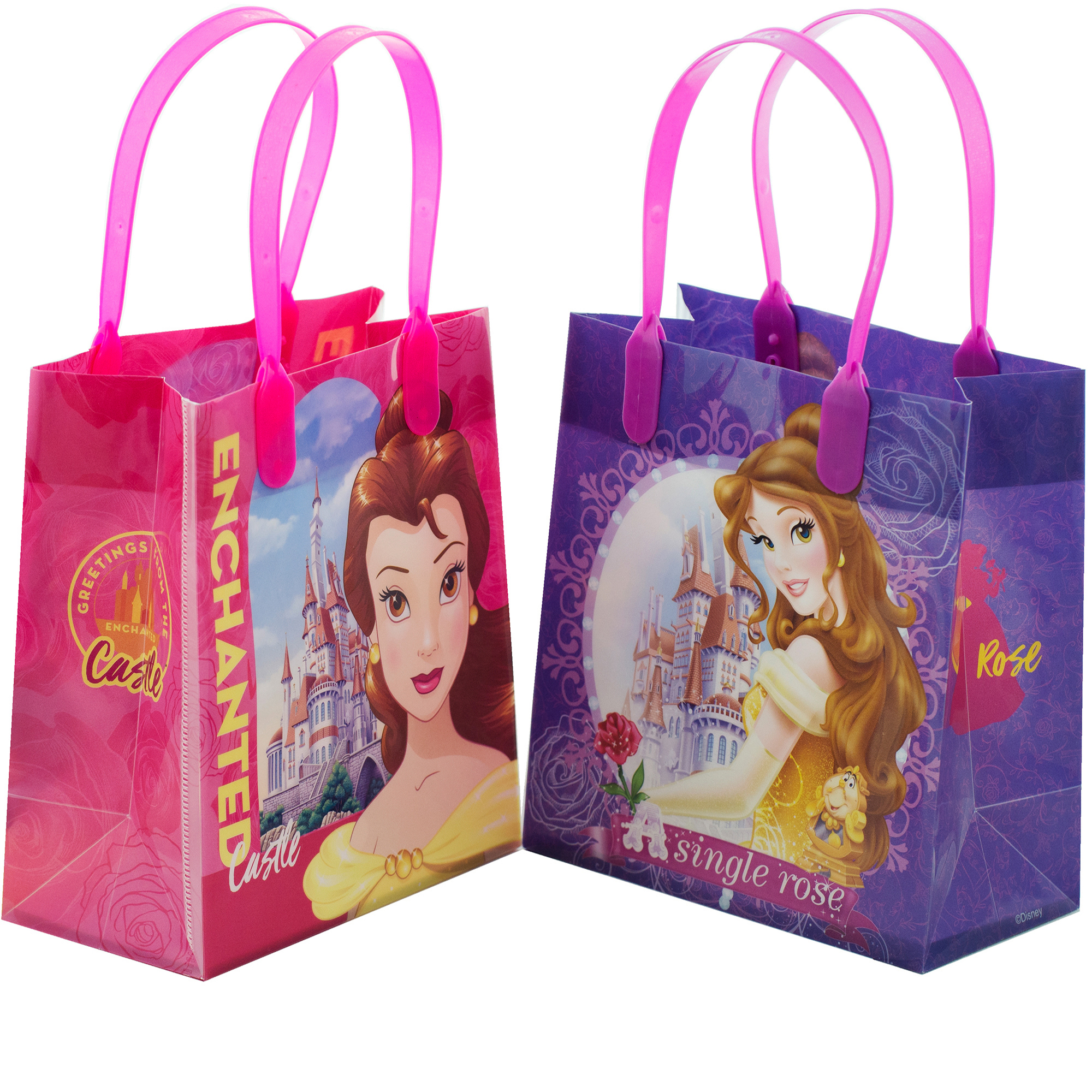 """Disney Princess Belle 12 Party Favors Small Goodie Gift Bags 6"""""""