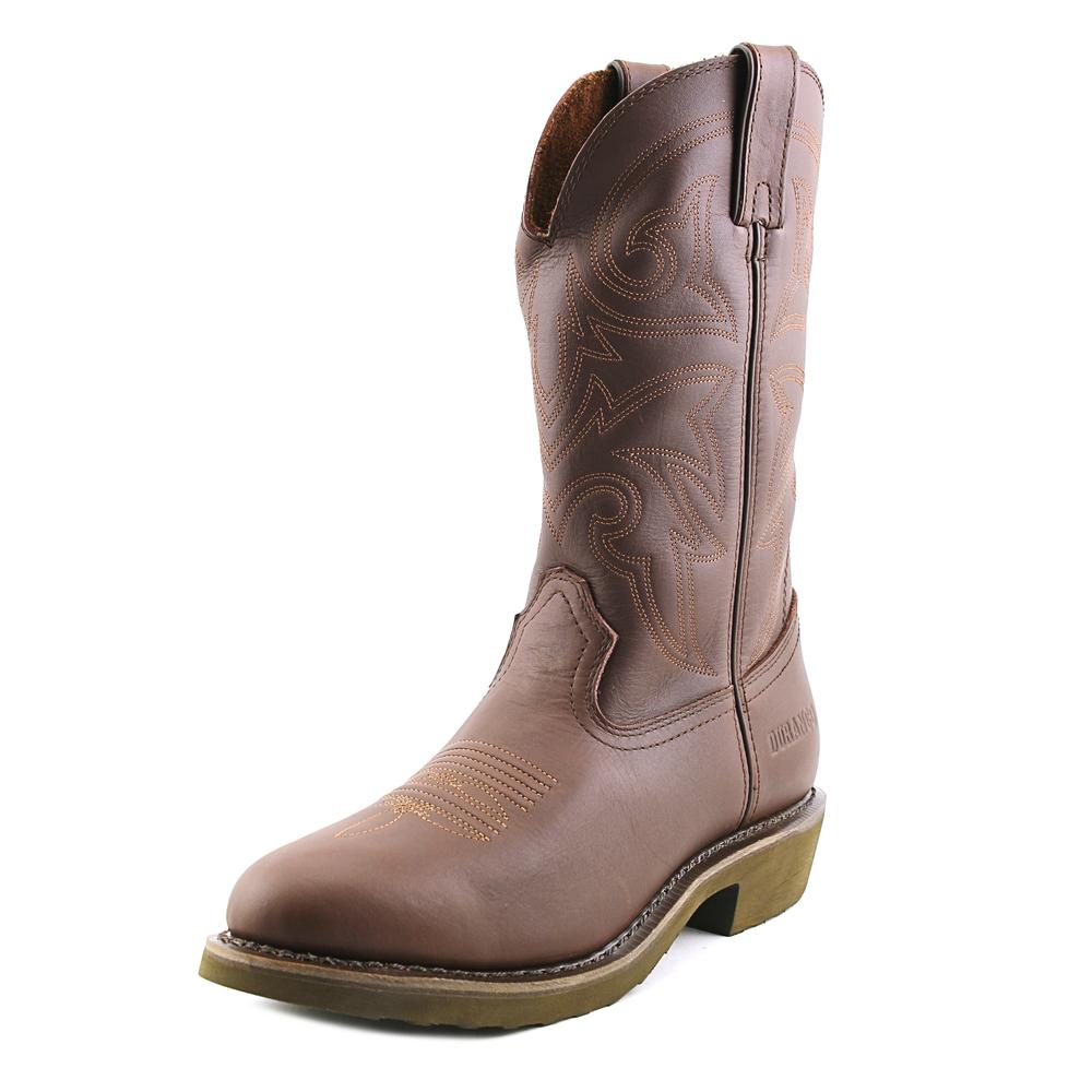 Durango FR104 Men 2E Round Toe Leather Brown Western Boot by Durango