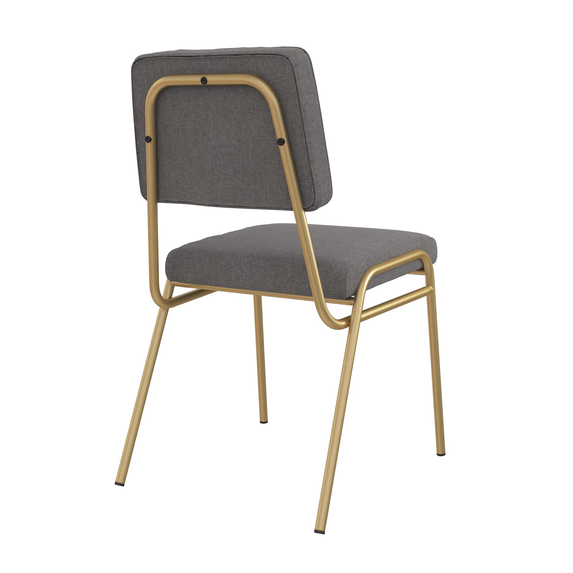Novogratz Lex Upholstered Dining Chair Gold Frame Blue