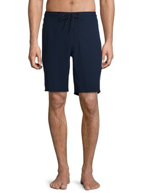 """George Men's and Big Men's 9"""" Sprayed Ombre Quick-Dry Swim Trunks with UPF 50, up to Size 3XL"""