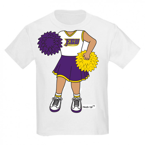 East Carolina Pirate Heads Up! Cheerleader Infant/Toddler T-Shirt