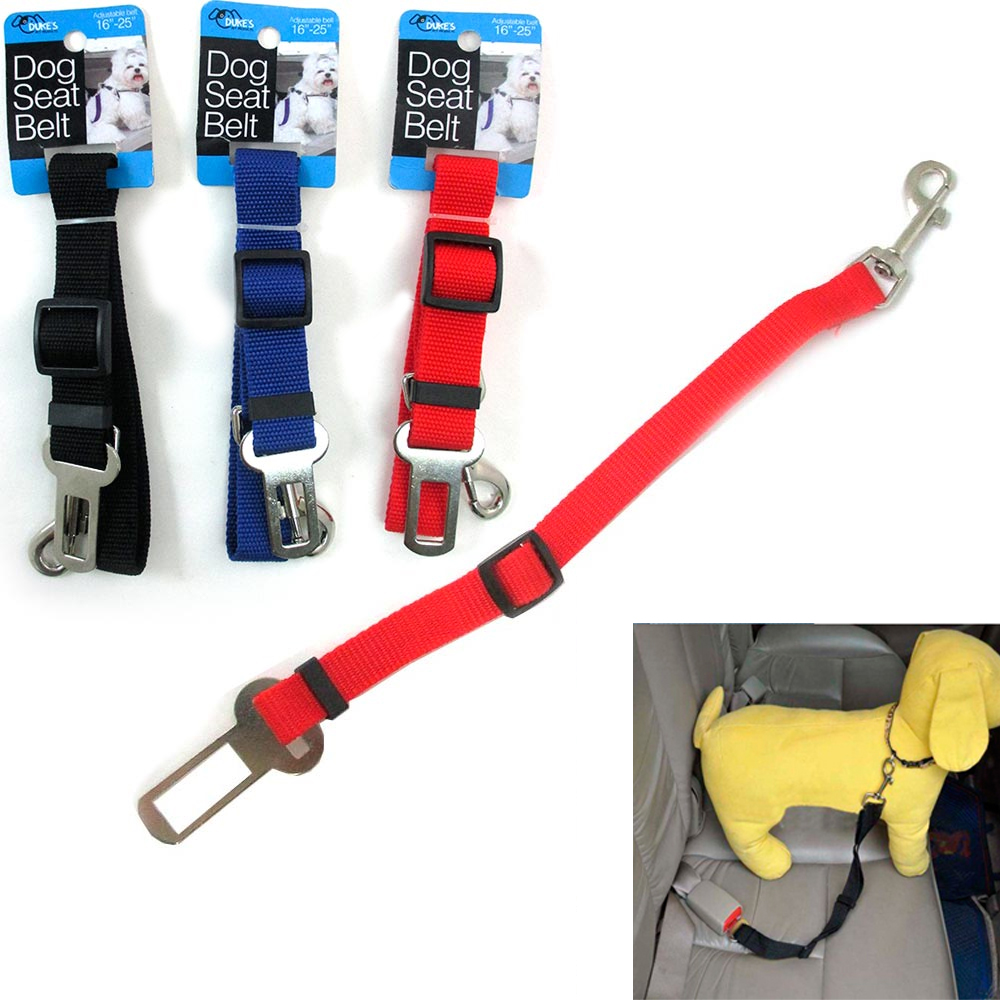 1pc Cat Dog Pet Safety Car Vehicle Strap Seat Belt Adjustable Harness Lead New