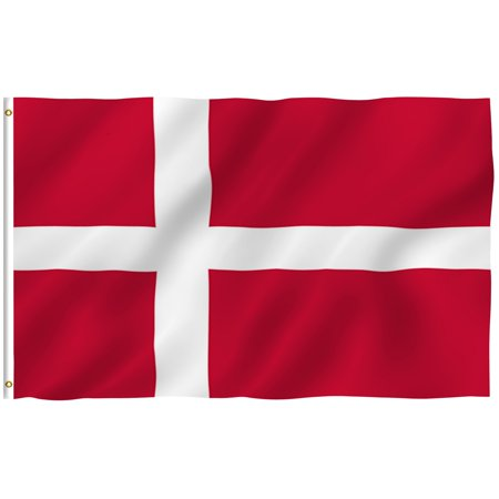 ANLEY [Fly Breeze] 3x5 Foot Denmark Flag - Vivid Color and UV Fade Resistant - Canvas Header and Double Stitched - Danish Dane National Flags Polyester with Brass Grommets 3 X 5 Ft